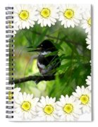 Belted Kingfisher In The Midst Spiral Notebook