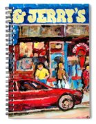 Ben And Jerrys Ice Cream Parlor Spiral Notebook