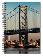 Ben Franklin Bridge Over Delaware River Spiral Notebook