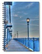 Ben Franklin Bridge Walkway Spiral Notebook