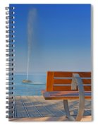 Bench And Fountain  Spiral Notebook