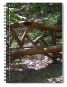 Bench Made Of Tree Branches Spiral Notebook