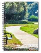 Bench In A Park With A Walkway Spiral Notebook