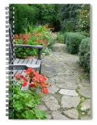 Bench In Borde Hill Gardens Spiral Notebook