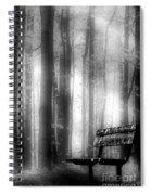 Bench In Michigan Woods Spiral Notebook