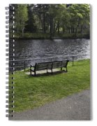 Bench On Shore Of River Ness In Inverness Spiral Notebook
