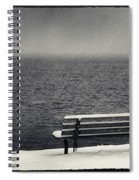 Bench On The Winter Shore Spiral Notebook