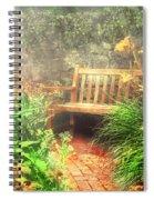 Bench - Privacy  Spiral Notebook