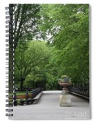 Bench Rows In Central Park  Nyc Spiral Notebook