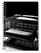 Bench Shadows Spiral Notebook
