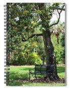 Bench Under The Magnolia Tree Spiral Notebook