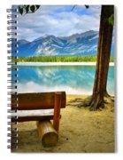 Bench View At Lake Edith Spiral Notebook