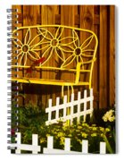 Bench With No Name  Spiral Notebook