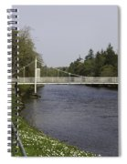 Benches And Suspension Bridge Over River Ness Spiral Notebook