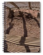 Benches At Meteor Crater In Arizona Spiral Notebook