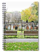 Benches By The Cemetery Spiral Notebook