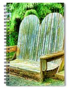Benches II Spiral Notebook