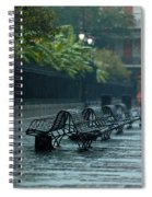 Benches In The Rain Spiral Notebook