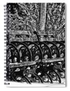 Benches In The Snow - Bw Spiral Notebook