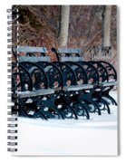 Benches In The Snow Spiral Notebook