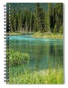 Bend In Mistaya River Spiral Notebook