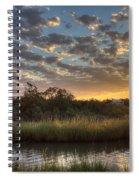 Bend In The Bayou Sunrise Spiral Notebook
