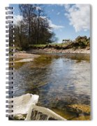 Bend In The Breamish River Spiral Notebook