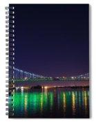 Benjamin Franklin Bridge At Night From Penn's Landing Spiral Notebook