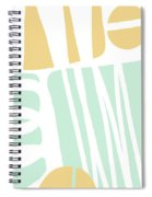 Bento 1- Abstract Shape Painting Spiral Notebook