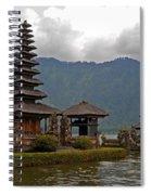 Beratan Island Temple Spiral Notebook