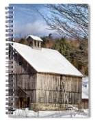 Berkshire Barn In Winter Spiral Notebook