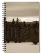 Berkshires Winter 1 - Massachusetts Spiral Notebook