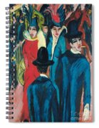 Berlin Street Scene Spiral Notebook