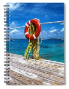 Bermuda Lifebelt Bite Spiral Notebook