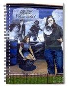 Bernadette Devlin Mural Spiral Notebook