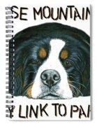 Bernese Mountain Dog Paradise Spiral Notebook
