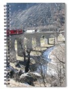 Bernina Express In Winter Spiral Notebook