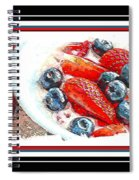 Berries And Yogurt Illustration - Food - Kitchen Spiral Notebook