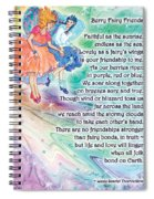 Berry Fairy Friends Poem Spiral Notebook