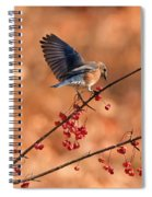 Berry Picking Bluebird Spiral Notebook