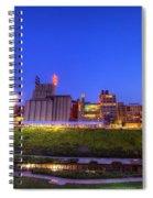 Best Minneapolis Skyline At Night Blue Hour Spiral Notebook