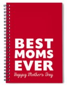 Best Moms Card- Red- Two Moms Mother's Day Card Spiral Notebook