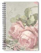 Best Wishes Vintage Roses Card  Spiral Notebook