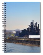 Bethlehem Steel And The Lehigh River Spiral Notebook