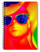 Betsy In Blue Sunglasses Spiral Notebook