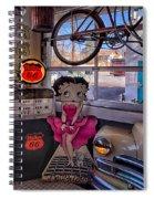 Betty Boop At Albuquerque's 66 Diner Spiral Notebook