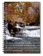 Bible Verse And Inspirational Greeting Card Autumn Fine Art Photography Prints And Posters. Spiral Notebook