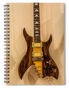 Bich Electric Guitar Colored Spiral Notebook