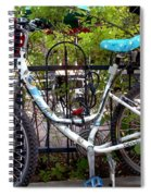 Bicycle At St Francis Cafe Spiral Notebook