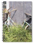 Bicycle Basket Of Flowers Painterly Effect Spiral Notebook